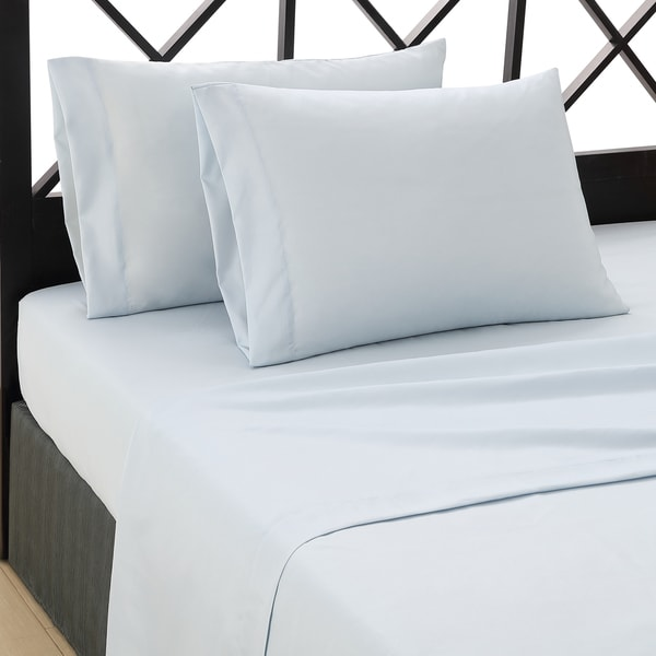 Convergence Solid Color Baby Blue Sheet Set