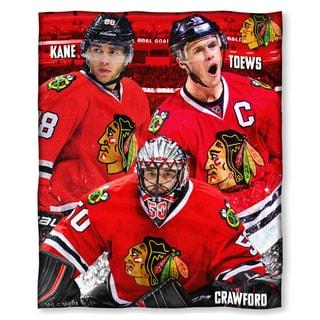 NHL 575 Blackhawks - Kane, Toews, Crawford Silk Touch Throw