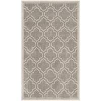 Safavieh Amherst Indoor / Outdoor Light Grey / Ivory Rug - 2'6 x 4'