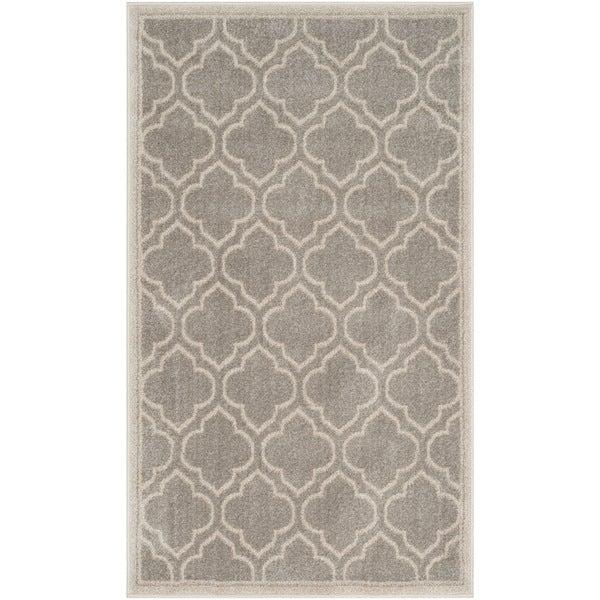 Safavieh Amherst Indoor / Outdoor Light Grey / Ivory Rug (2' 6 x 4')