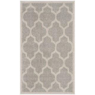 Safavieh Amherst Indoor / Outdoor Light Grey / Beige Rug (2' 6 x 4')