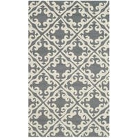 Safavieh Hand Hooked Easy To Care Grey / Ivory Rug (2' x 3')