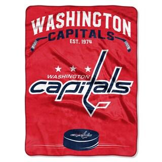 NHL 0802 Capitals Inspired Raschel Throw