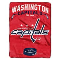 NHL 0802 Capitals Inspired Raschel Throw