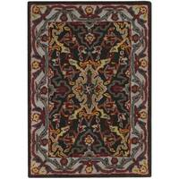 Safavieh Heritage Hand-Woven Wool Charcoal / Ivory Area Rug (2' x 3')