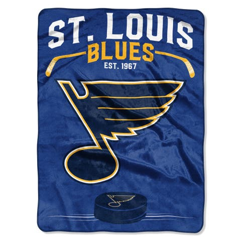 NHL 0802 Blues Inspired Raschel Throw