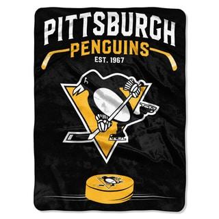 NHL 0802 Penguins Inspired Raschel Throw
