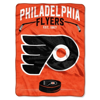 NHL 0802 Flyers Inspired Raschel Throw