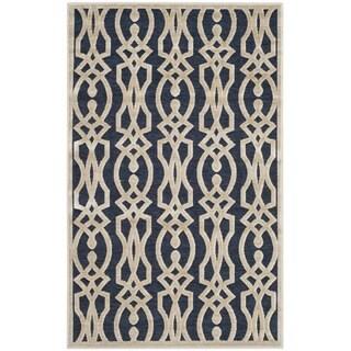 Safavieh Martha Stewart Collection Azurite Blue Viscose Rug (2' 7 x 4')