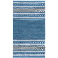 Safavieh Montauk Hand-Woven Blue/ Grey Cotton Accent Area Rug - 2'6 x 4'