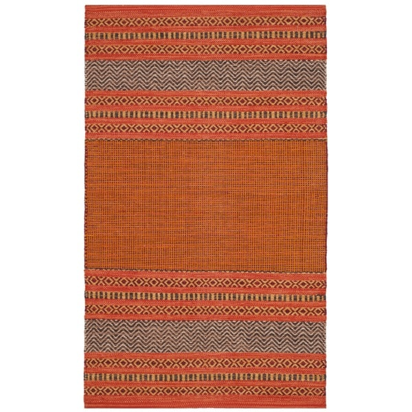 area rugs with orange accents teal safavieh montauk handwoven orange red cotton accent area rug 2x27 26