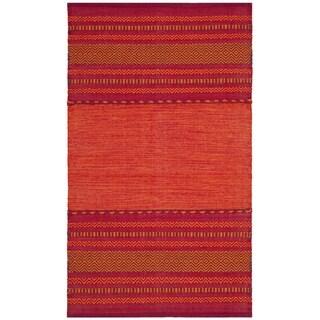 Safavieh Montauk Hand-Woven Red Cotton Accent Area Rug (2' 6 x 4')