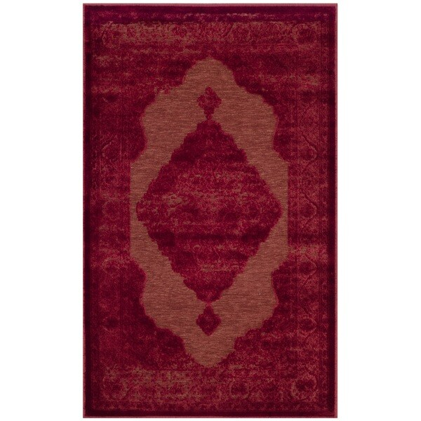 Safavieh Paradise Watercolor Vintage Red Viscose Rug (2' 7 x 4')
