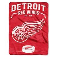 NHL 0802 Red Wings Inspired Raschel Throw
