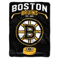 NHL 0802 Bruins Inspired Raschel Throw