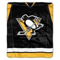 NHL 0701 Penguins Raschel Throw