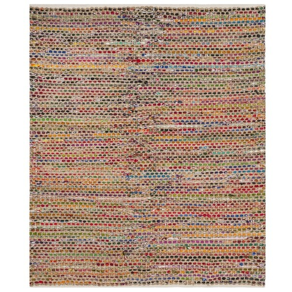 Safavieh Cape Cod Coastal Hand-Woven Natural/ Multi Jute Area Rug - 6' Square