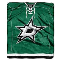 NHL 0701 Stars Jersey Raschel Throw