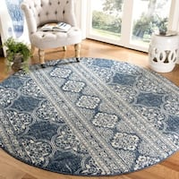 Safavieh Evoke Vintage Royal Blue/ Ivory Distressed Rug - 6'7 Round