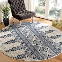 Safavieh Evoke Vintage Ivory / Royal Distressed Rug (6'7 Round)