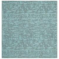 Safavieh Hand-Woven Marbella Flatweave Blue / Turquoise Chenille Rug (6' Square)