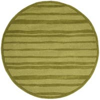Safavieh Hand-Woven Martha Stewart Collection Mossy Rock Wool Rug - 4' Round