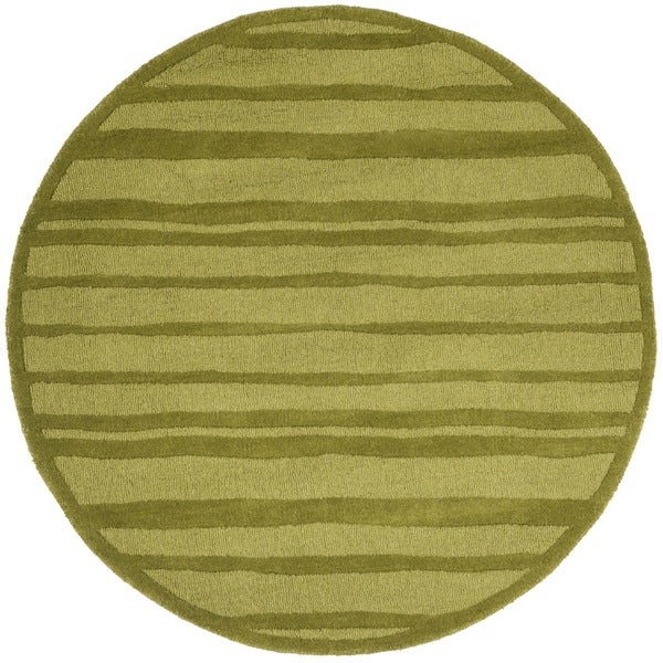 Safavieh Hand-Woven Martha Stewart Collection Mossy Rock Wool Rug (4' Round)
