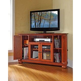 Crosley Furniture Alexandria Classic Cherry 48-inch Corner TV Stand