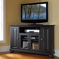 Alexandria Black 48-inch Corner TV Stand