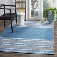 Safavieh Montauk Hand-Woven Blue/ Grey Cotton Area Rug - 6' x 6' Square