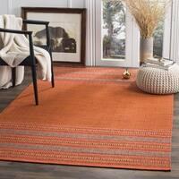 Safavieh Montauk Hand-Woven Orange/ Red Cotton Area Rug - 6' Square