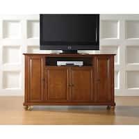 Crosley Furniture Cambridge 60-inch Classic Cherry Wood TV Stand
