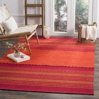 Safavieh Montauk Hand-Woven Red Cotton Area Rug - 6' Square