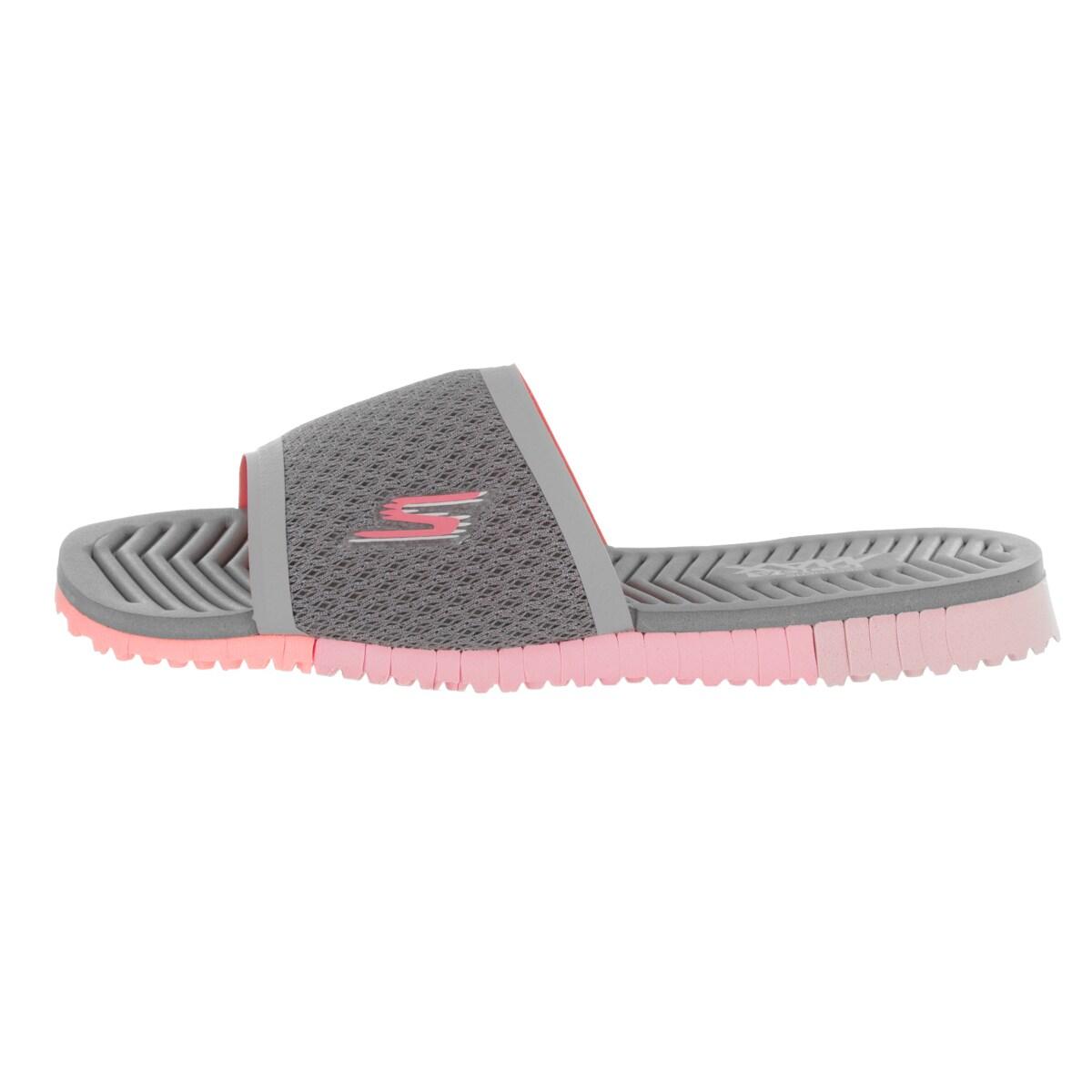 Skechers Go Flex Cheer Womens Slide Sandals GrayPink 6: Buy