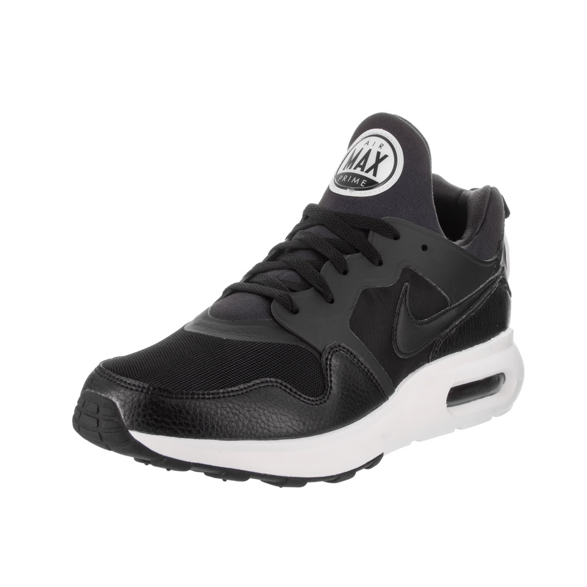 Nike Men's Air Max Prime Running Shoe (8.5), Black (leather)