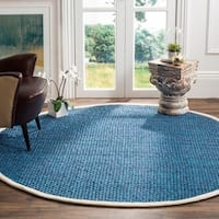 Safavieh Natural Fiber Contemporary Handmade Blue Jute Rug - 6' Round