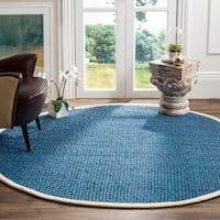 Safavieh Natural Fiber Contemporary Handmade Blue Jute Rug (6' Round)