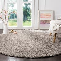 Safavieh Athens Light Grey Shag Rug - 6' 7 Round