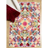 Home Dynamix Marquee Collection Multicolor Machine-made Area Rug (6'6 x 9'2)