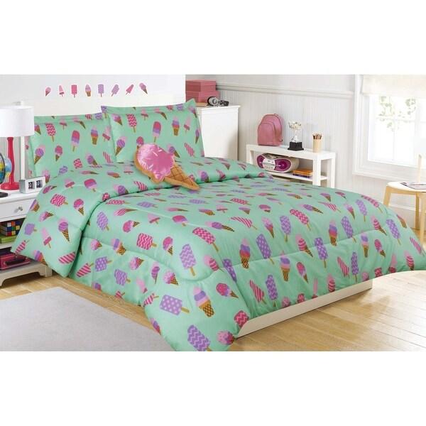Frozen Treat Comforter Set with Decorative Pillow