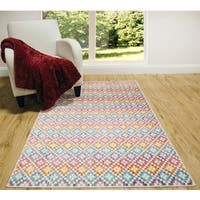 Home Dynamix Marquee Collection Rainbow Multicolored Area Rug - 6'6x9'2