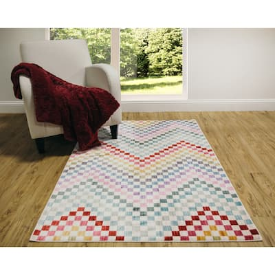 Home Dynamix Marquee Collection Multicolored Area Rug - 6'6 x 9'2