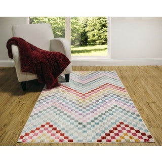 Home Dynamix Marquee Collection Multicolored Area Rug (6'6 x 9'2)