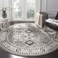 "Safavieh Vintage Hamadan Traditional Grey / Black Distressed Rug - 6'7"" x 6'7"" round"