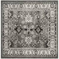 Safavieh Vintage Hamadan Traditional Grey / Black Distressed Rug (6' 7 Square)