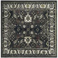 Safavieh Vintage Hamadan Dark Grey / Ivory Distressed Area Rug - 6'7 Square