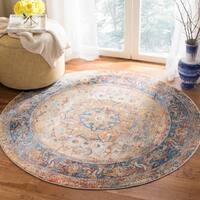 Safavieh Vintage Persian Blue/ Multi Distressed Area Rug - 5' x 5' round