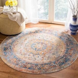 Safavieh Vintage Persian Blue/ Multi Distressed Area Rug (5' Round)
