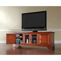 Crosley Lafayette Cherry Wood Low-profile TV Stand