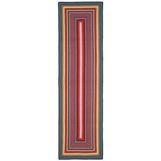 Safavieh Braided Contemporary Hand-Woven Multi Runner Rug (2' 3 x 8')